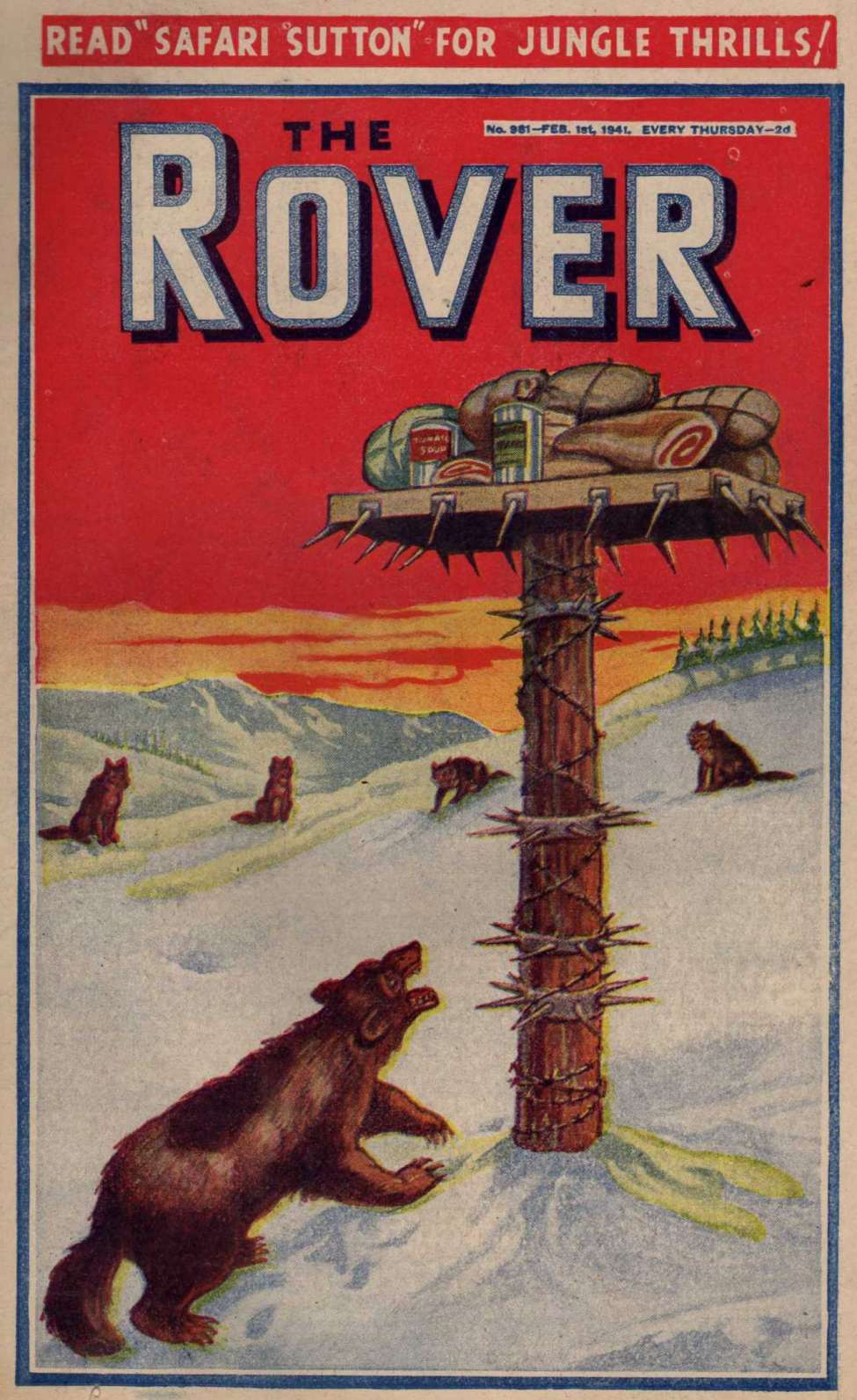 Comic Book Cover For The Rover 0981