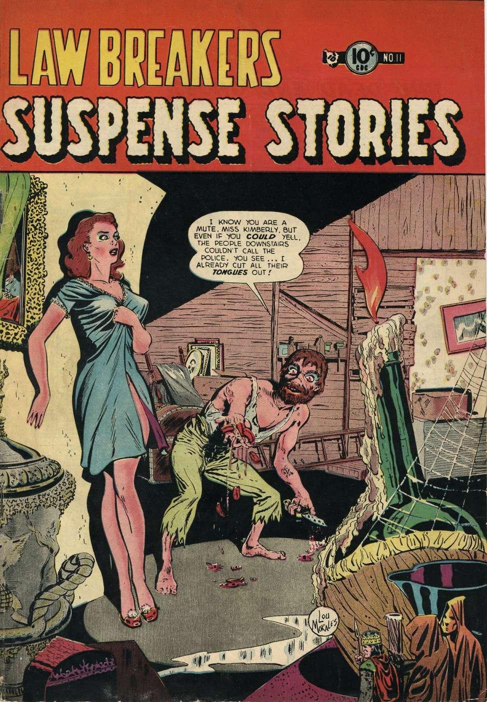 Comic Book Cover For Lawbreakers Suspense Stories #11