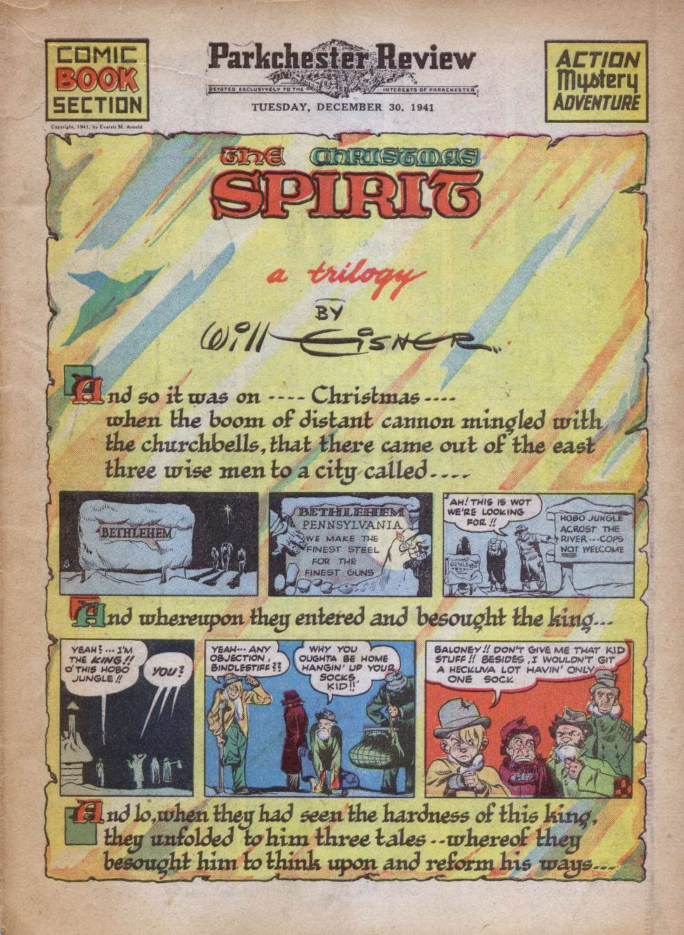 Comic Book Cover For The Spirit 12/28/1941