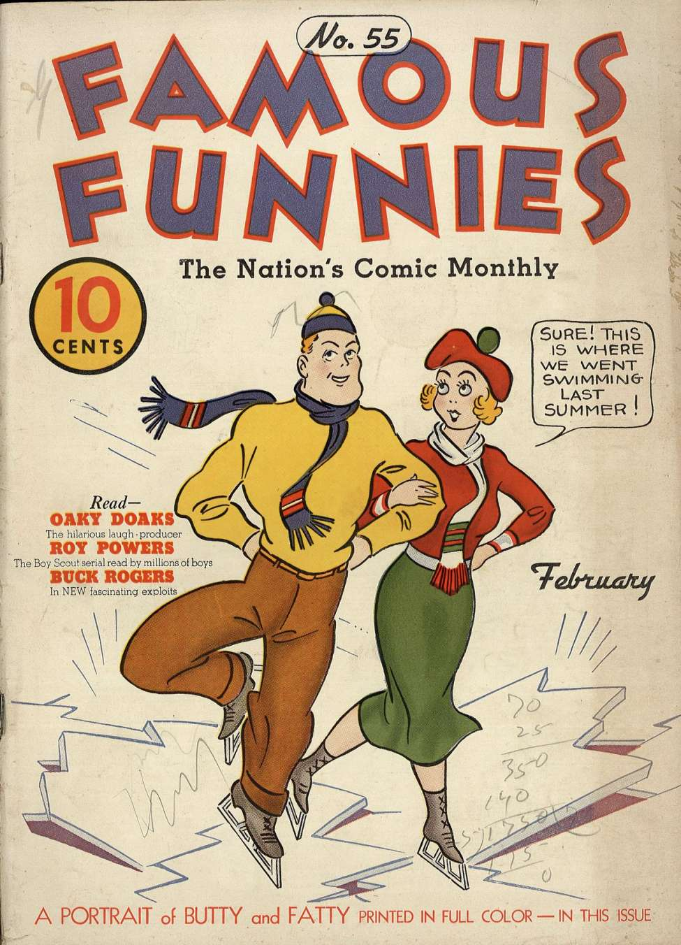 Comic Book Cover For Famous Funnies #55