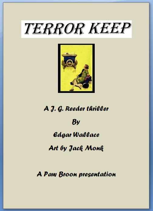 Comic Book Cover For Terror Keep