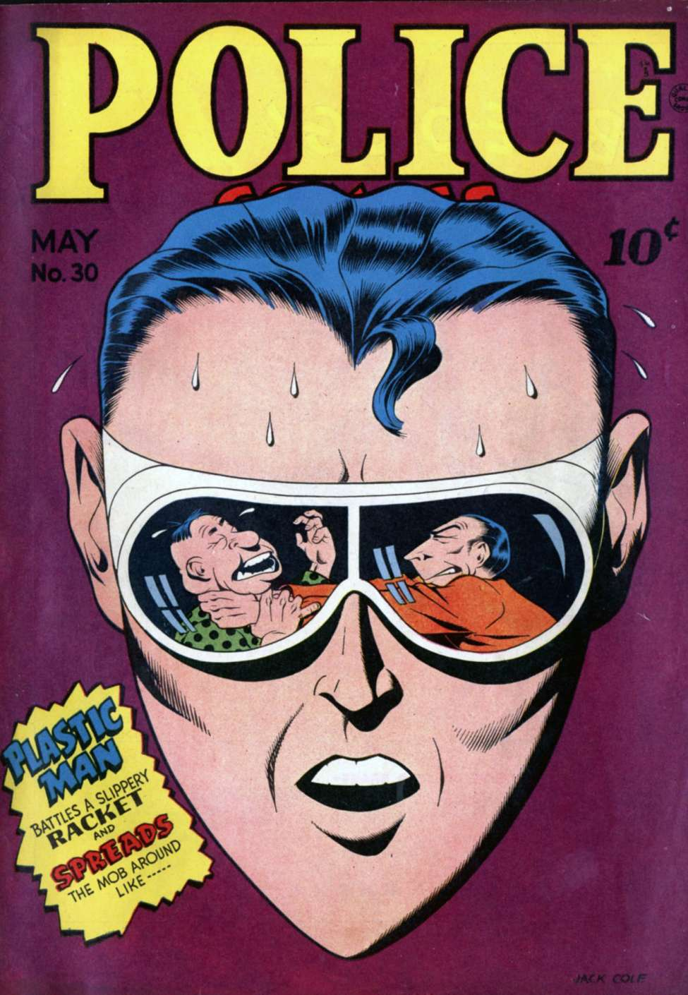 Comic Book Cover For Police Comics #30