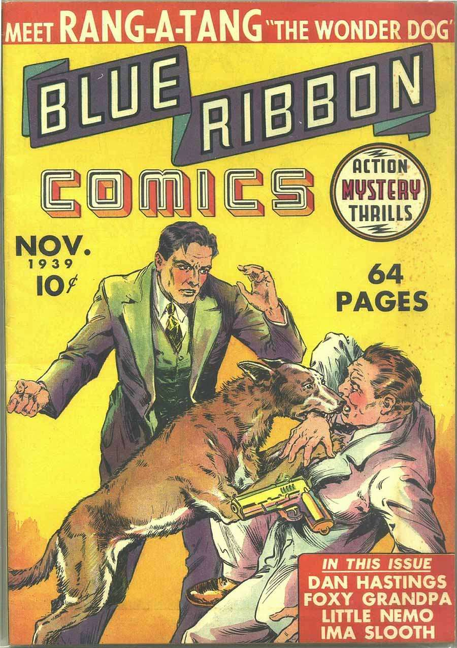 Comic Book Cover For Blue Ribbon Comics #1