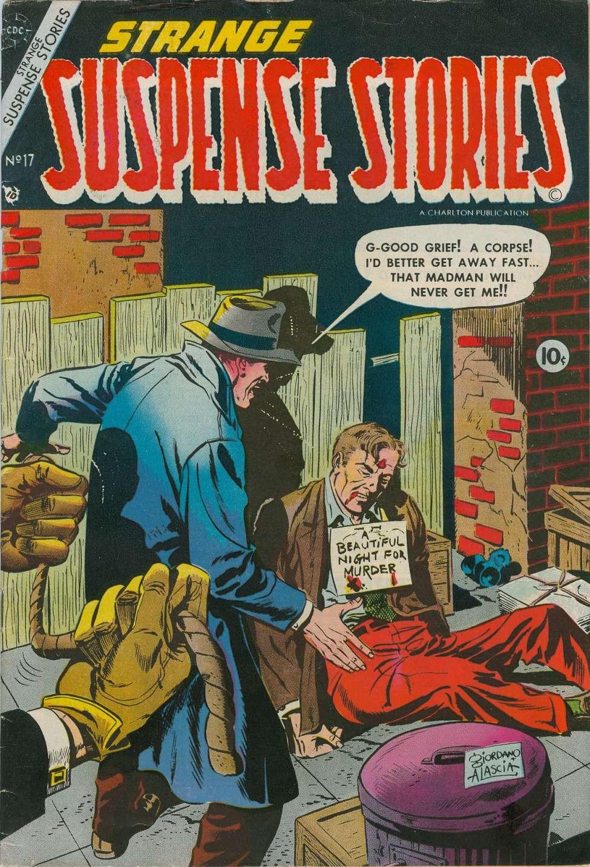Comic Book Cover For Strange Suspense Stories #17