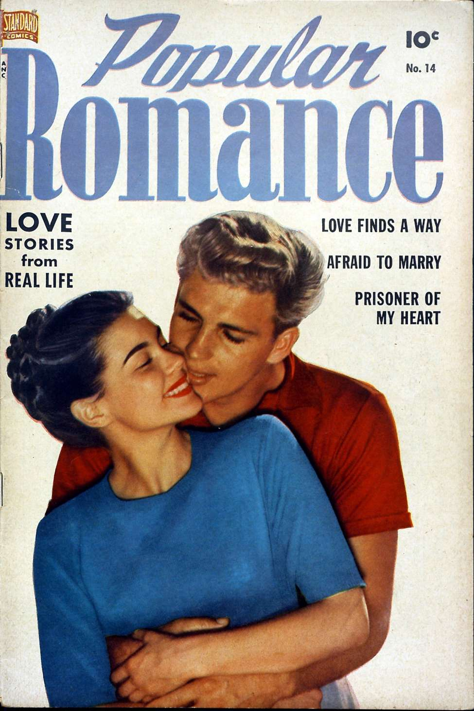 Comic Book Cover For Popular Romance #14