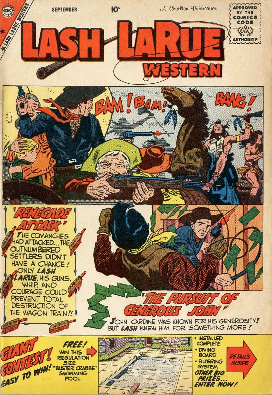 Comic Book Cover For Lash Larue Western #74
