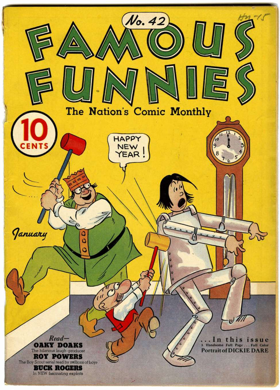 Comic Book Cover For Famous Funnies #42