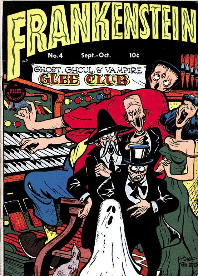 Comic Book Cover For Frankenstein #4