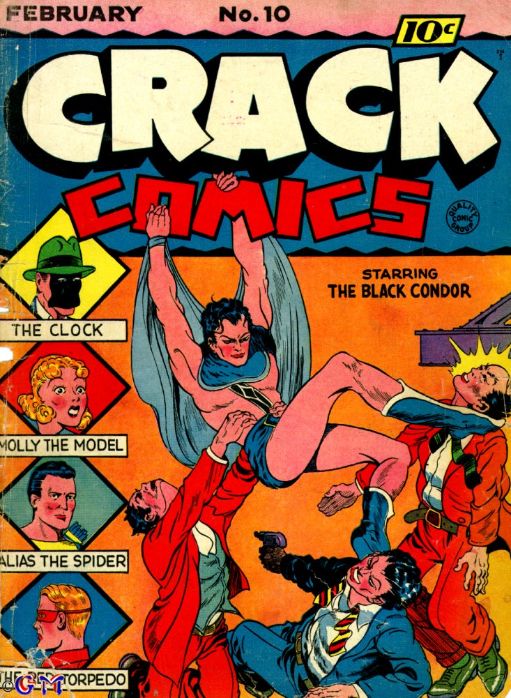 Comic Book Cover For Crack Comics #10