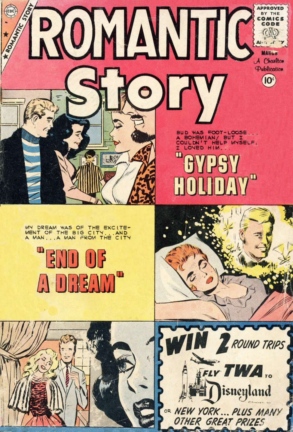 Comic Book Cover For Romantic Story #48