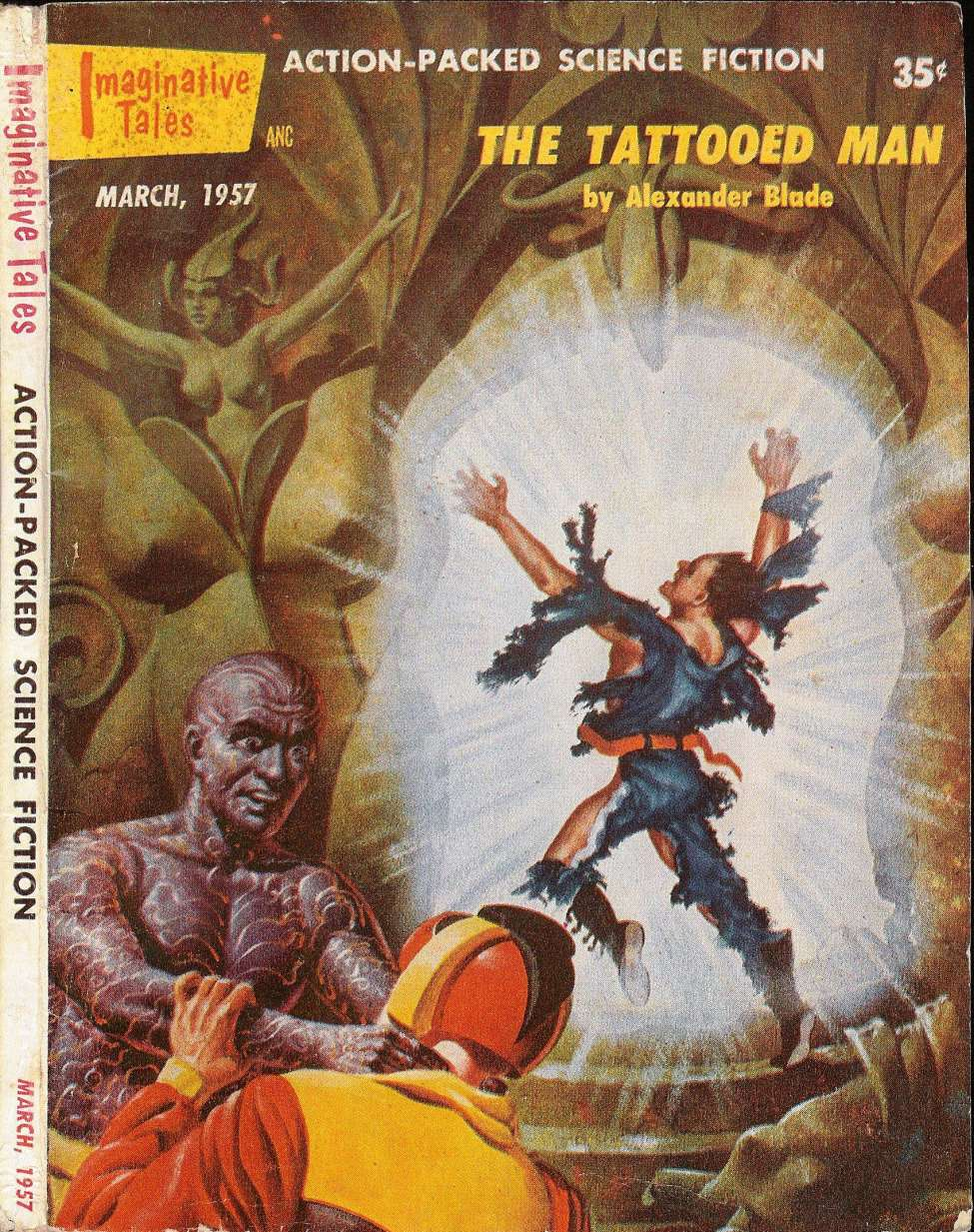 Comic Book Cover For Imaginative Tales v04 02 - The Tattooed Man - Alexander Blade