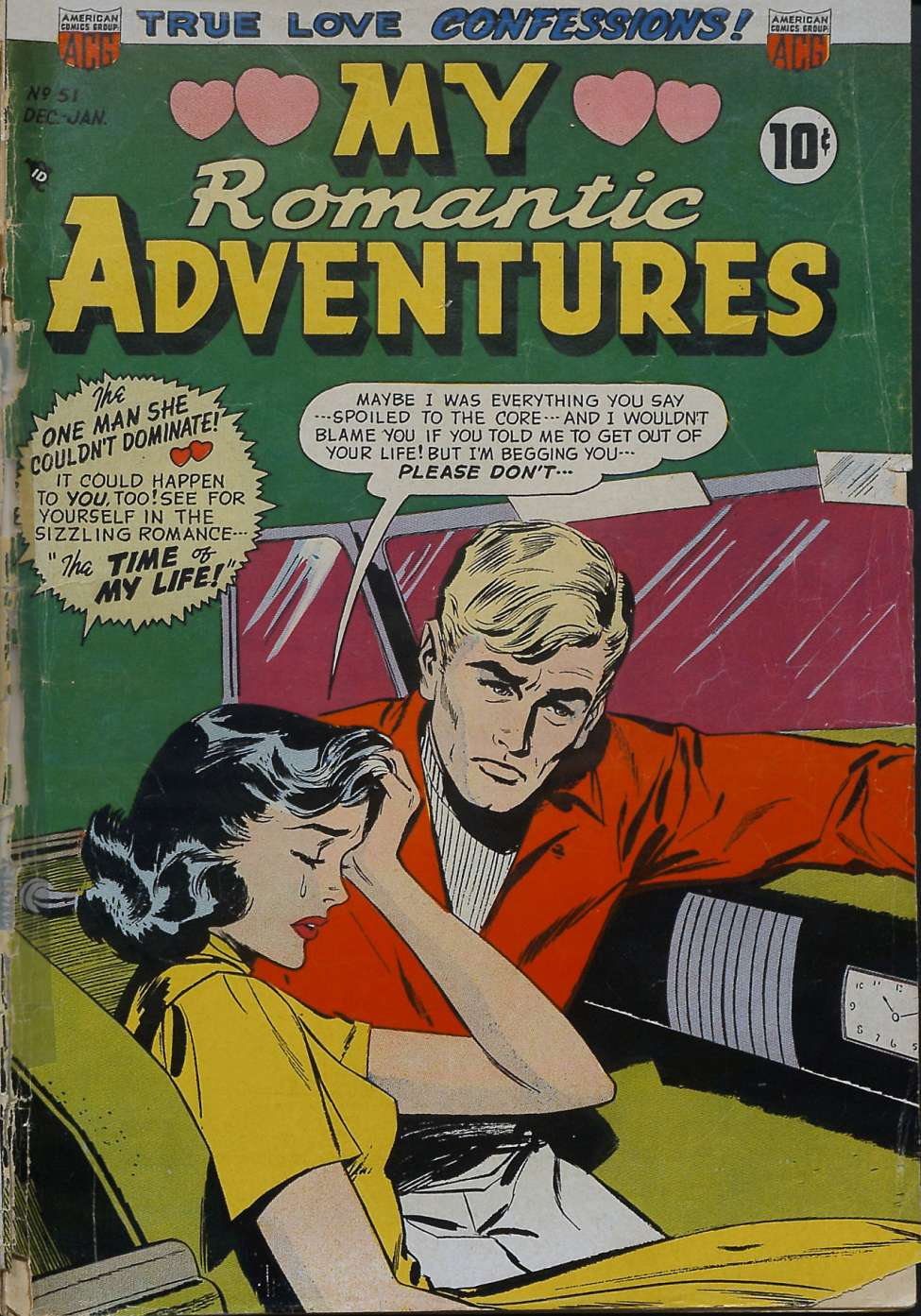 Comic Book Cover For Romantic Adventures #51