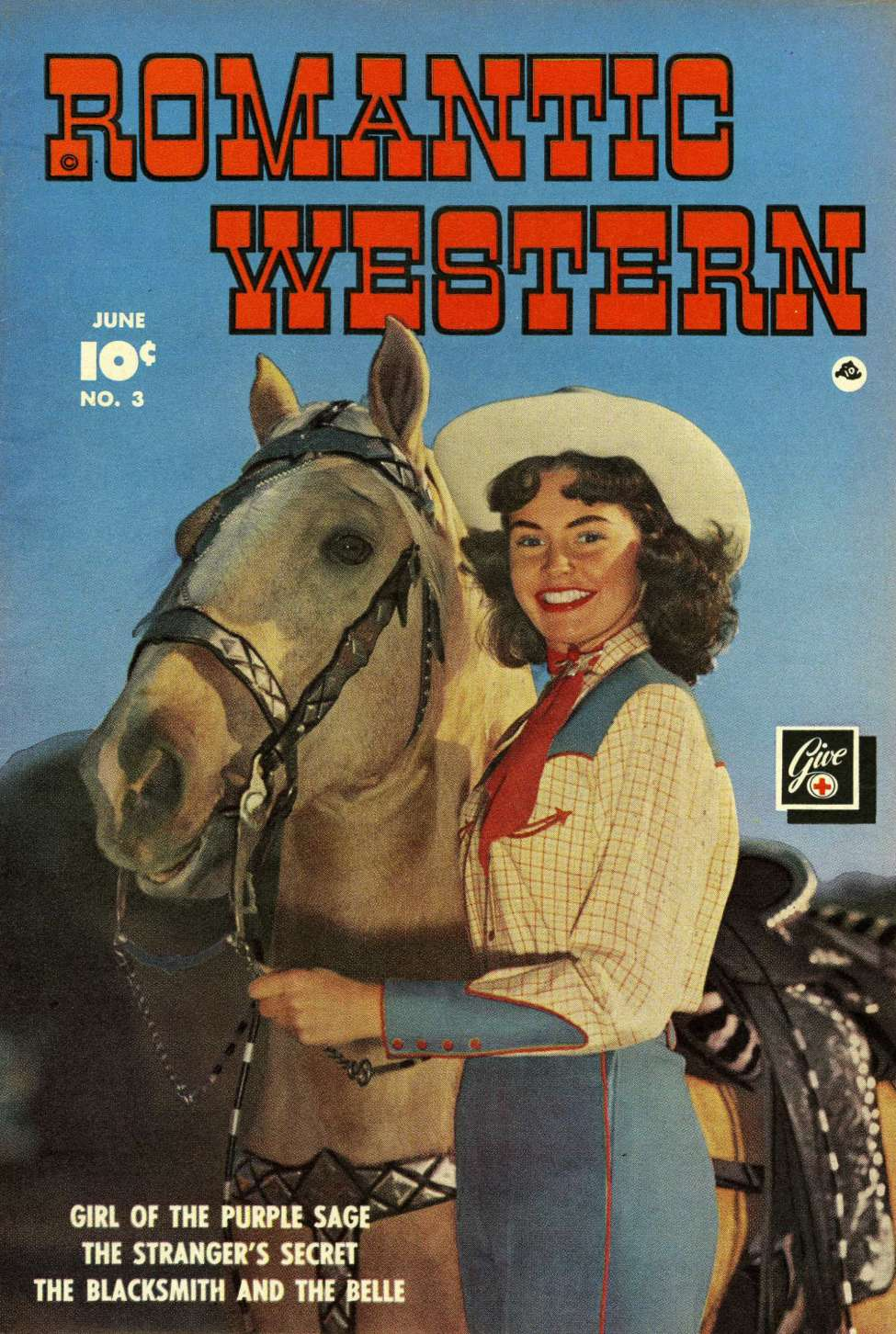 Comic Book Cover For Romantic Western #3