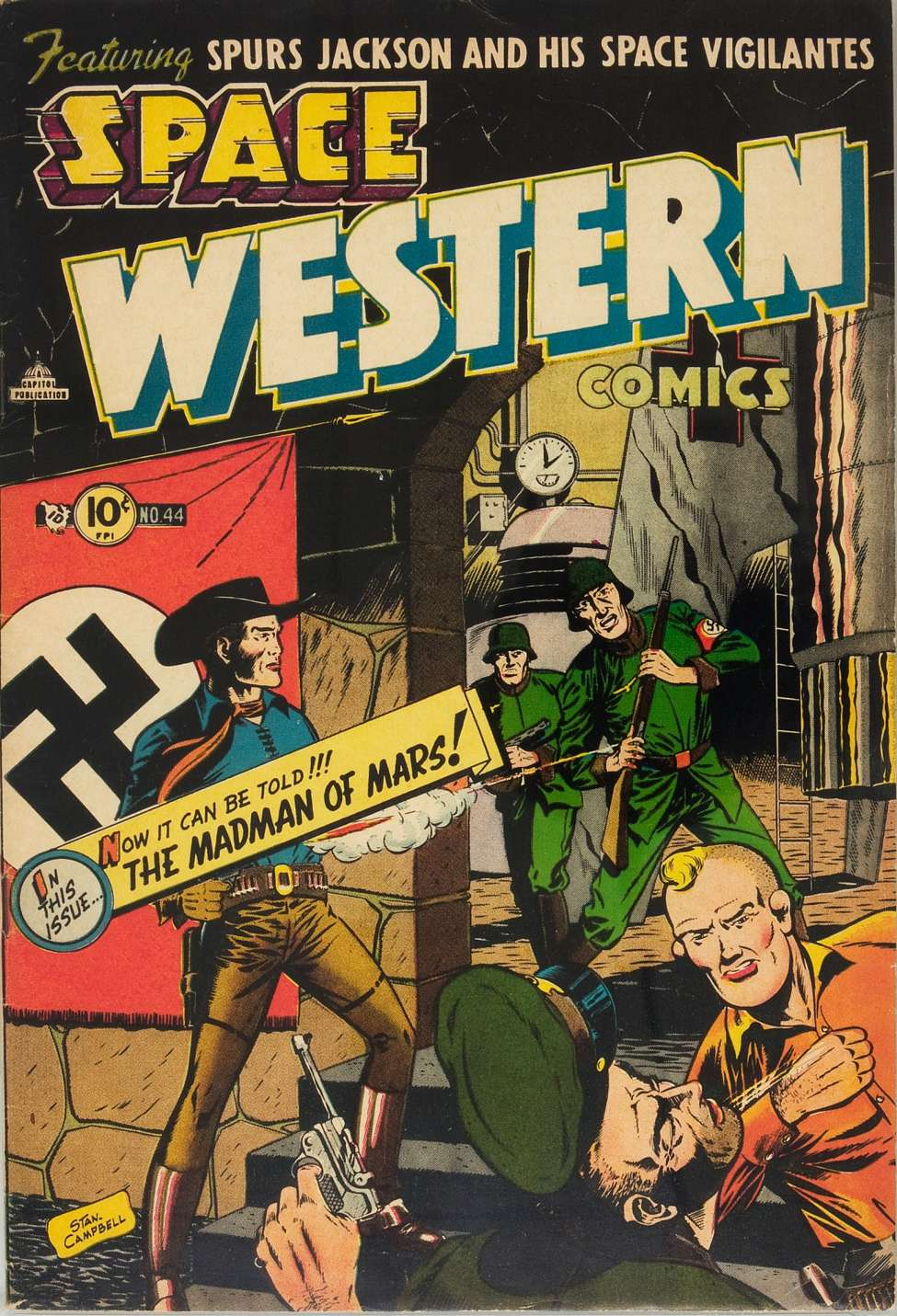 Comic Book Cover For Space Western #44