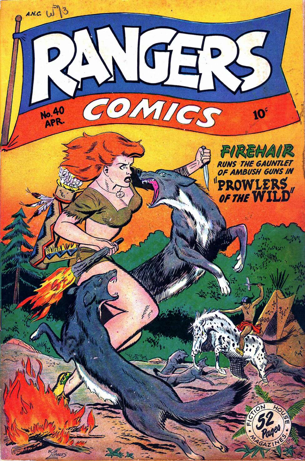 Comic Book Cover For Rangers Comics #40