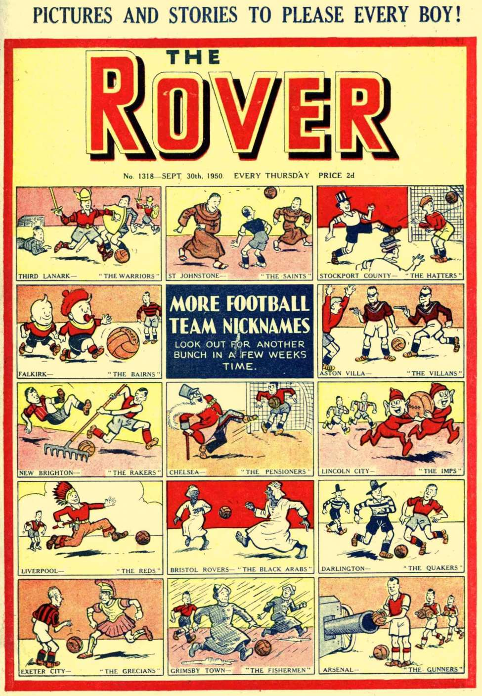 Comic Book Cover For The Rover 1318