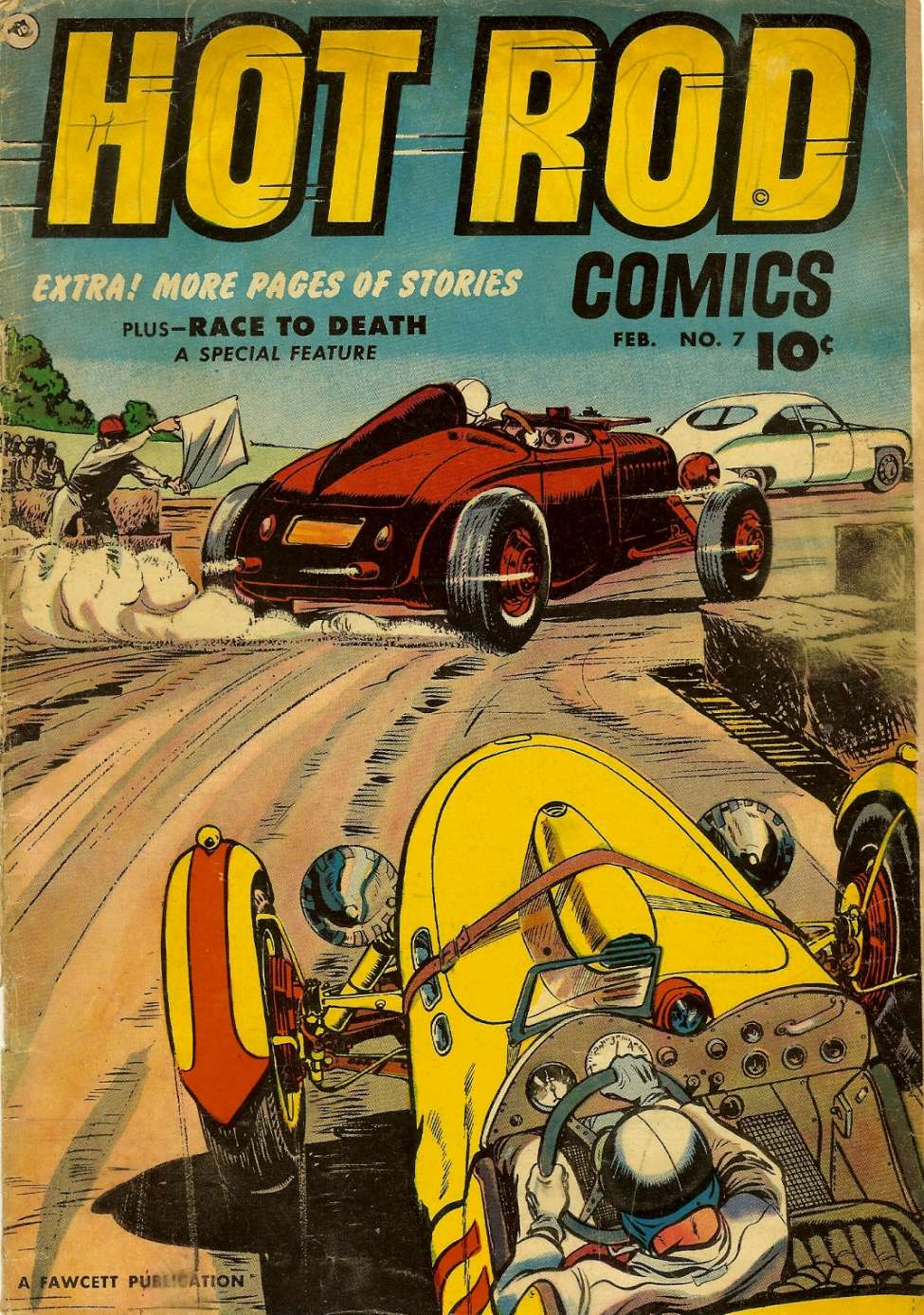 Comic Book Cover For Hot Rod Comics #7