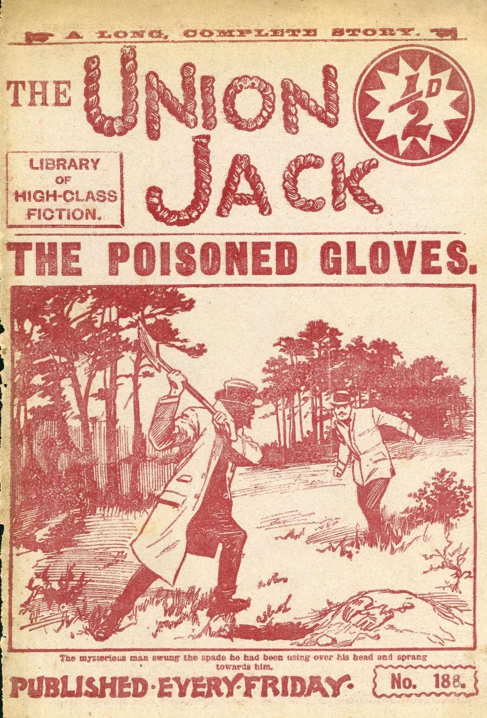Comic Book Cover For The Union Jack 188 - The Poisoned Gloves