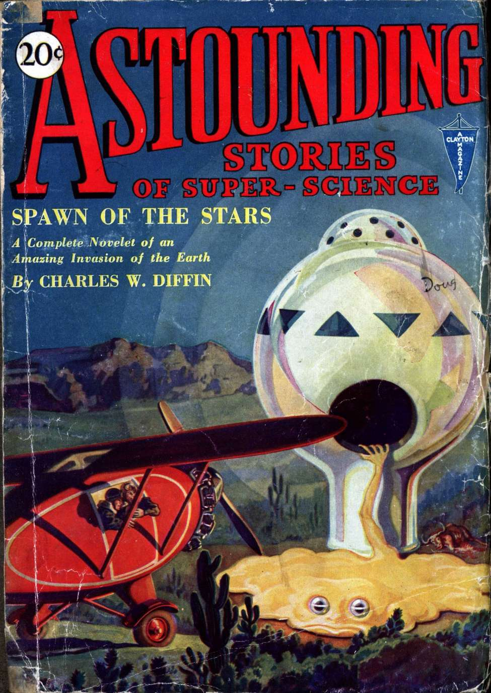 Comic Book Cover For Astounding v01 02 - Spawn of the Stars - Charles W. Diffin