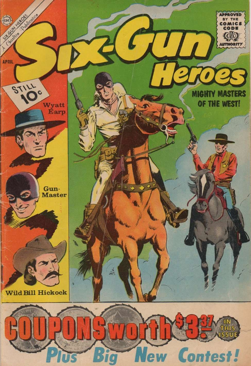 Comic Book Cover For Six-Gun Heroes #62