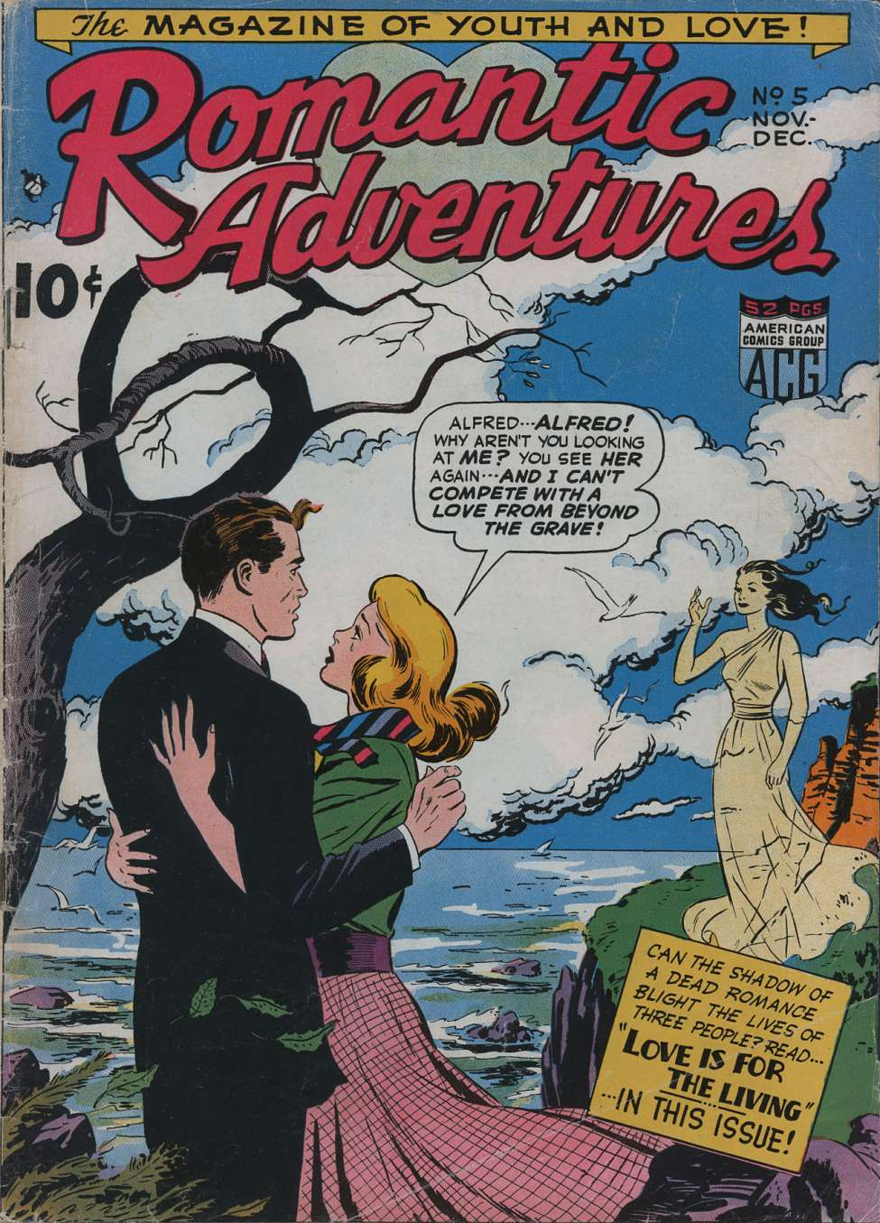 Comic Book Cover For Romantic Adventures #5