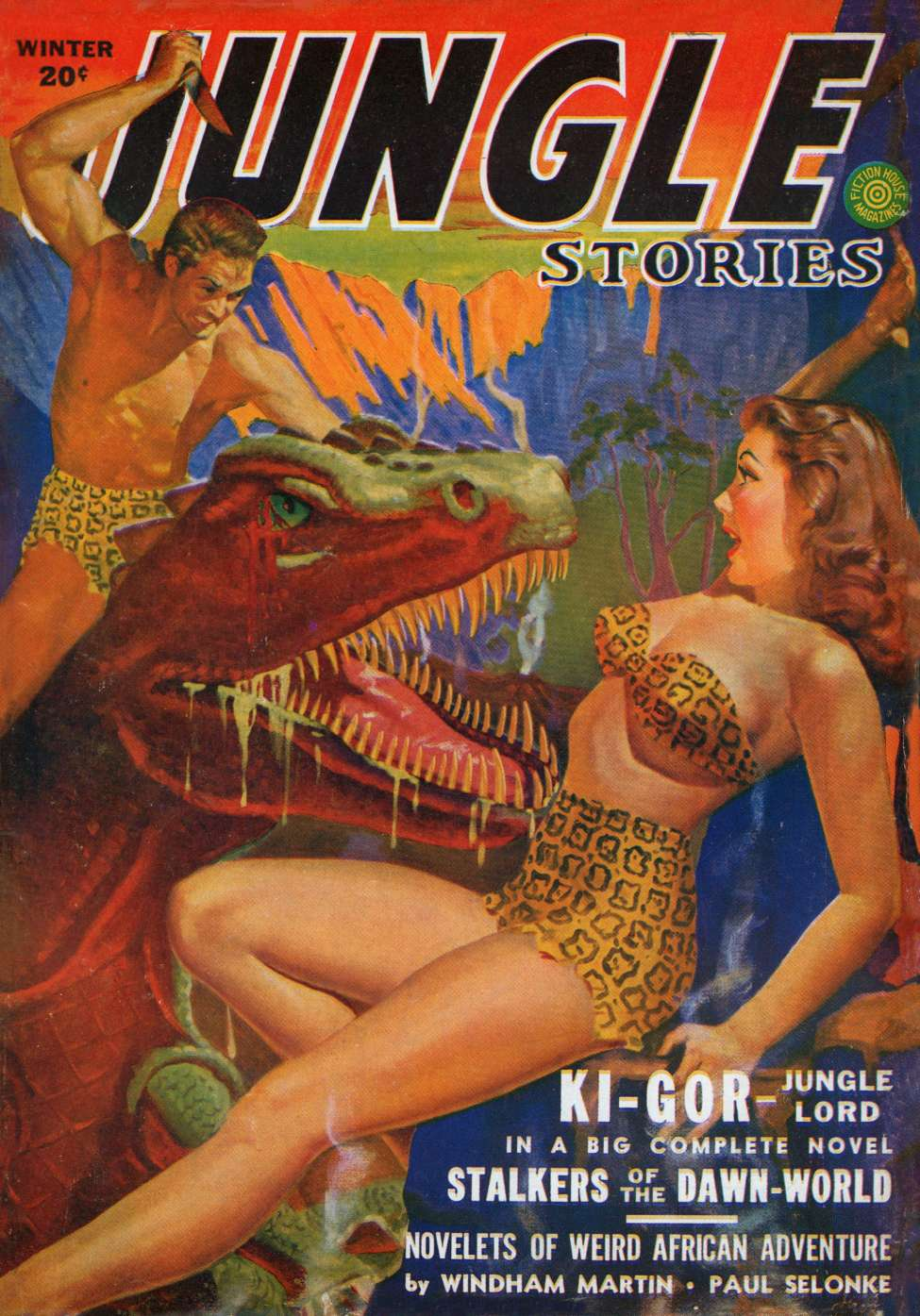 Comic Book Cover For Jungle Stories v2 09 - Stalkers of the Dawn World - John Peter Drummond
