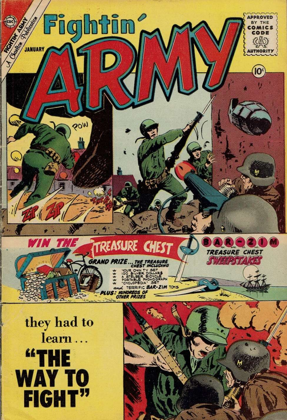 Comic Book Cover For Fightin' Army #39
