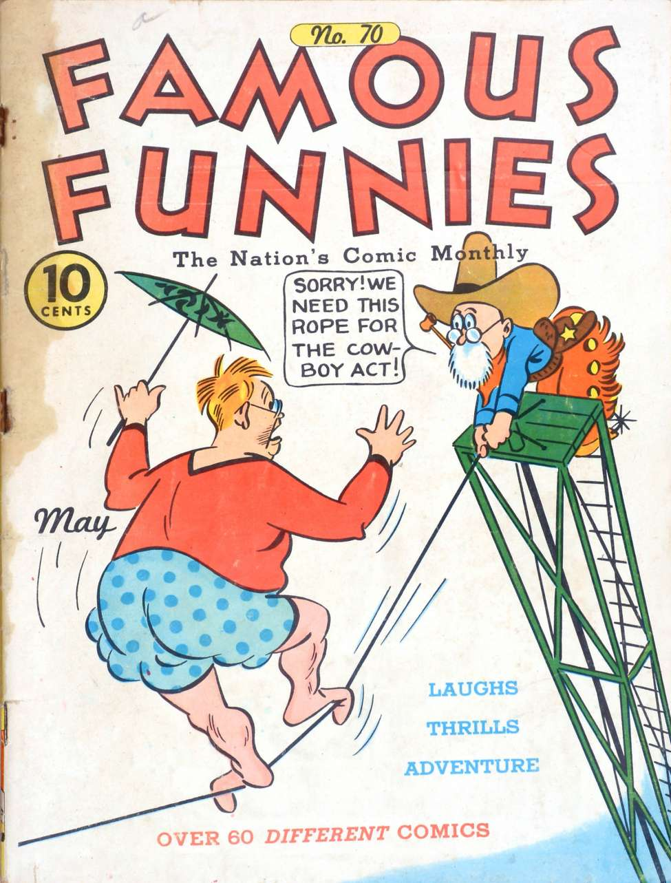 Comic Book Cover For Famous Funnies #70
