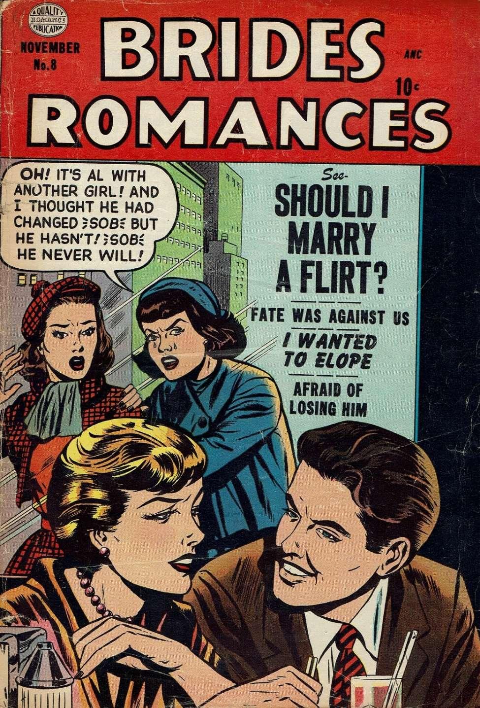 Comic Book Cover For Brides Romances #8
