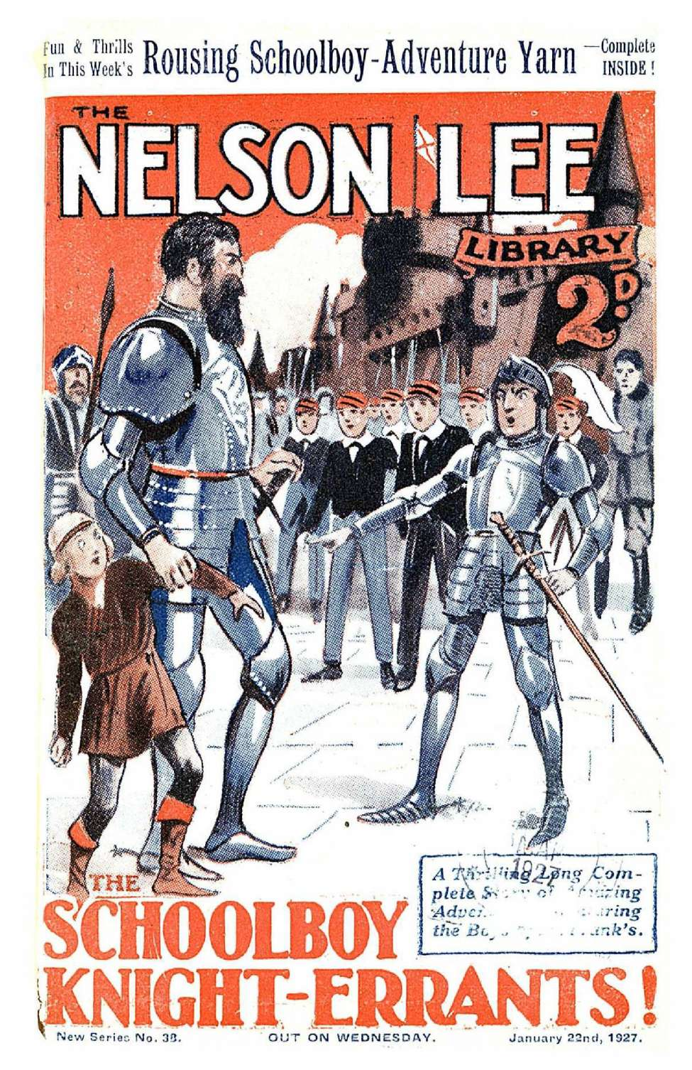 Comic Book Cover For Nelson Lee Library s2 038 - The Schoolboy Knight Errants