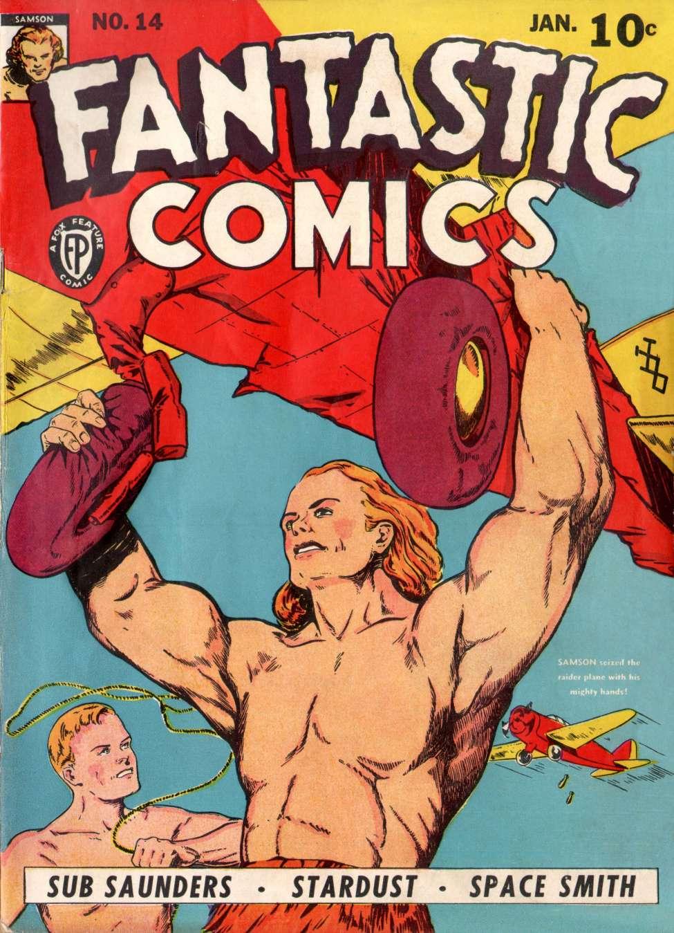 Comic Book Cover For Fantastic Comics #14