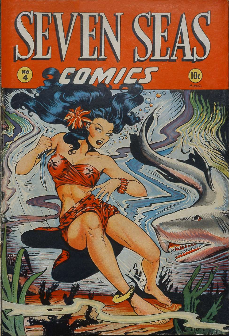 Comic Book Cover For Seven Seas Comics #4