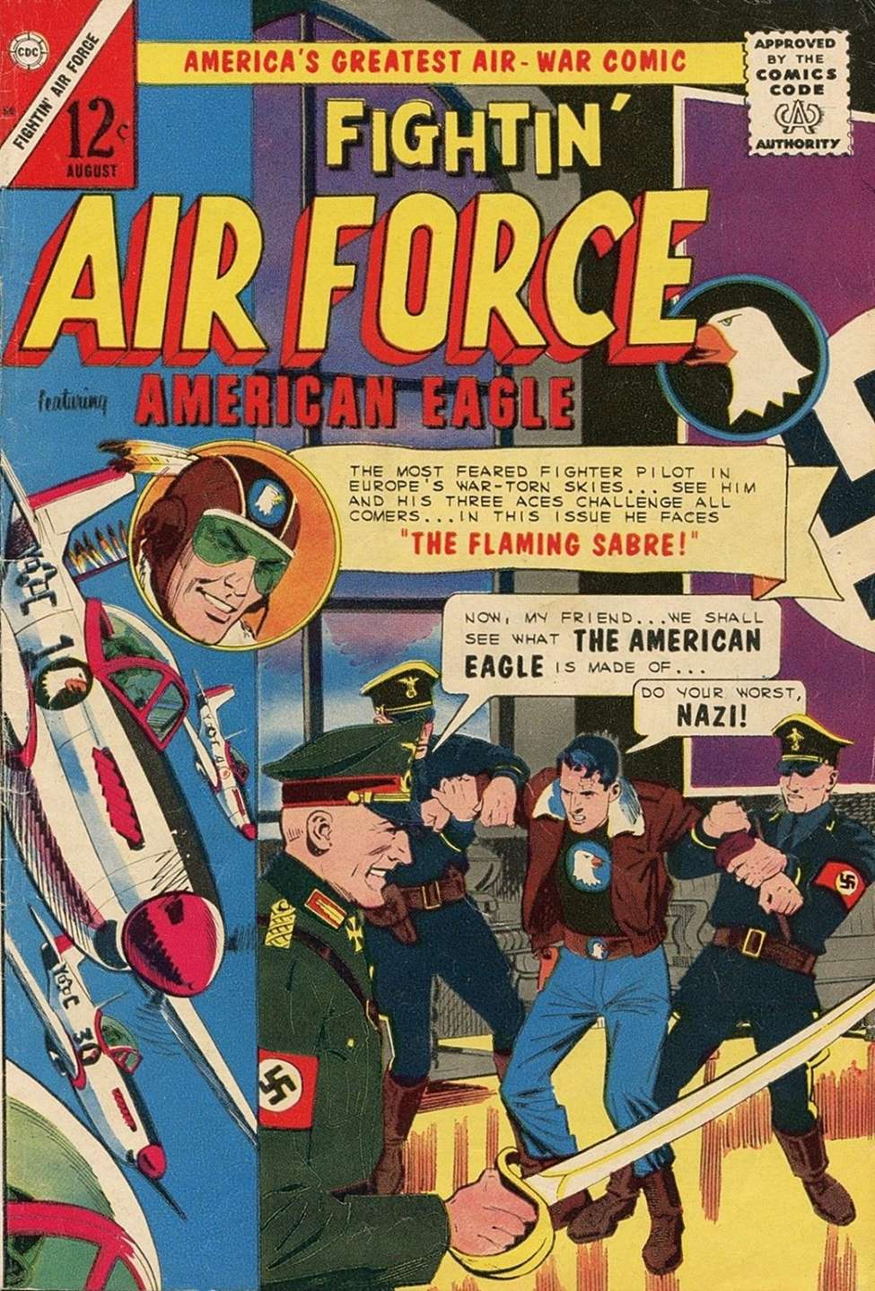 Comic Book Cover For Fightin' Air Force #50