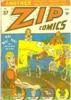 Cover For Zip Comics 37