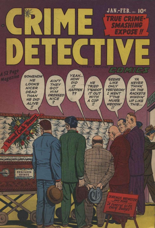 Comic Book Cover For Crime Detective Comics v2 #6