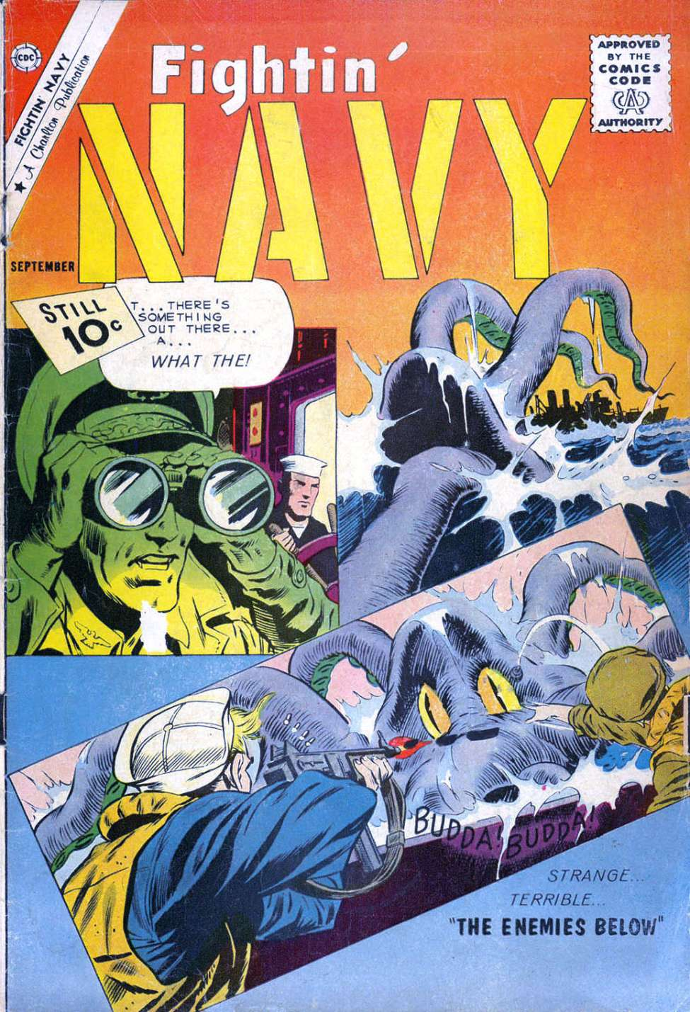 Comic Book Cover For Fightin' Navy #100
