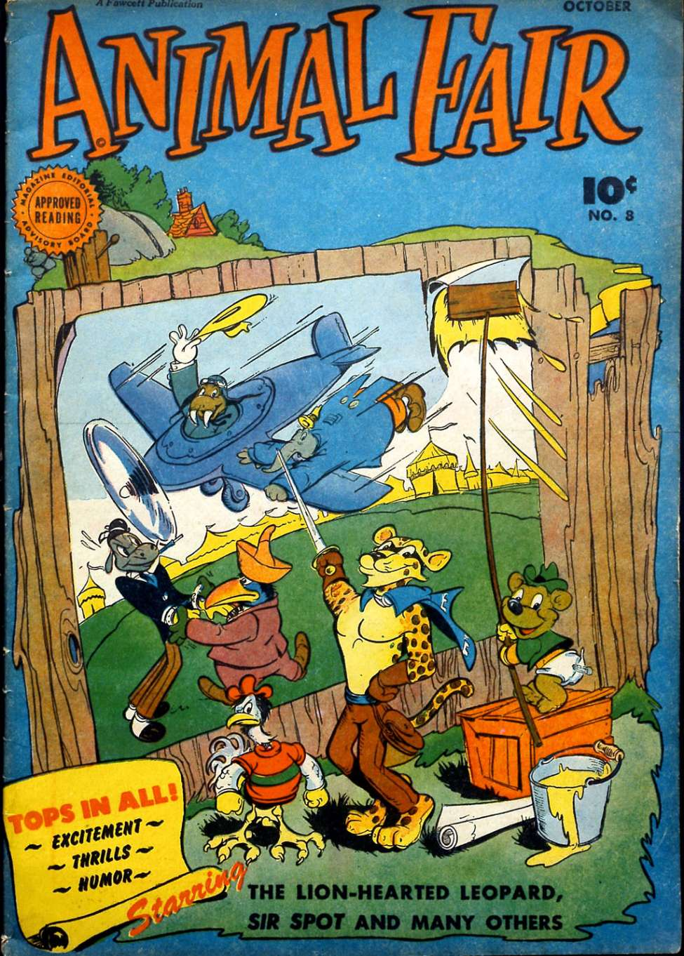 Comic Book Cover For Animal Fair #8