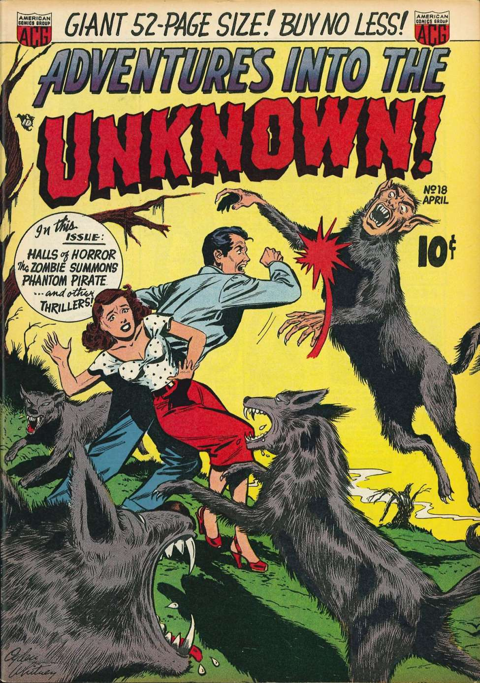 Comic Book Cover For Adventures into the Unknown #18