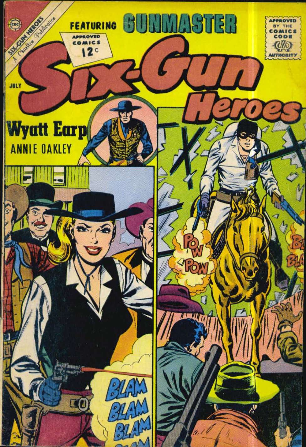 Comic Book Cover For Six-Gun Heroes #69