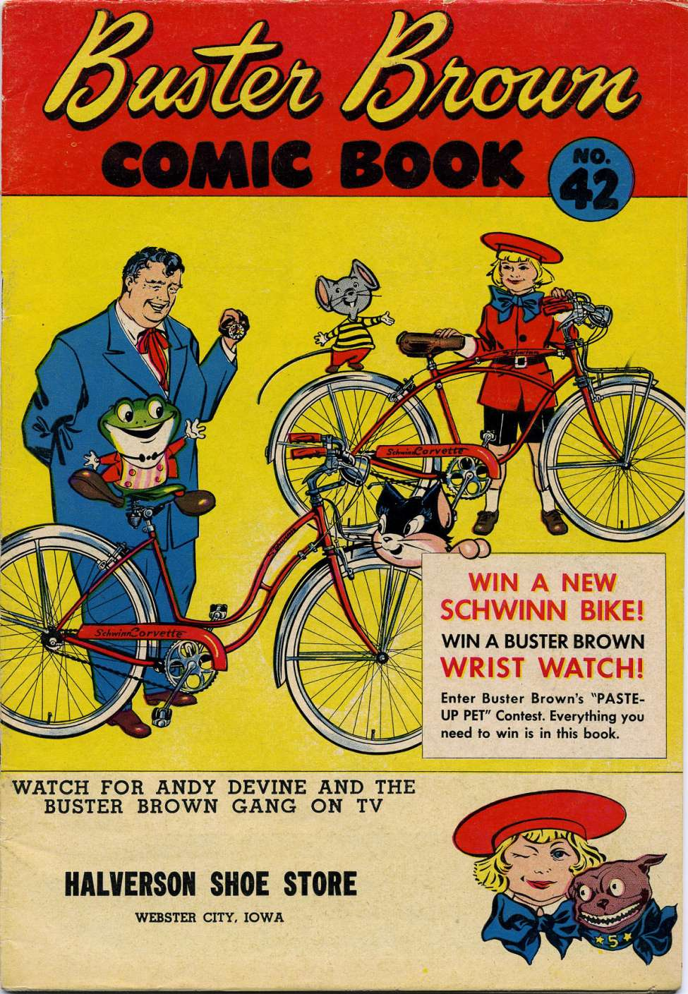 Comic Book Cover For Buster Brown Comic Book #42