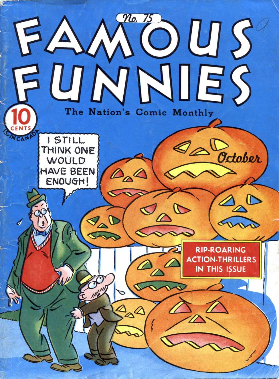 Comic Book Cover For Famous Funnies #75