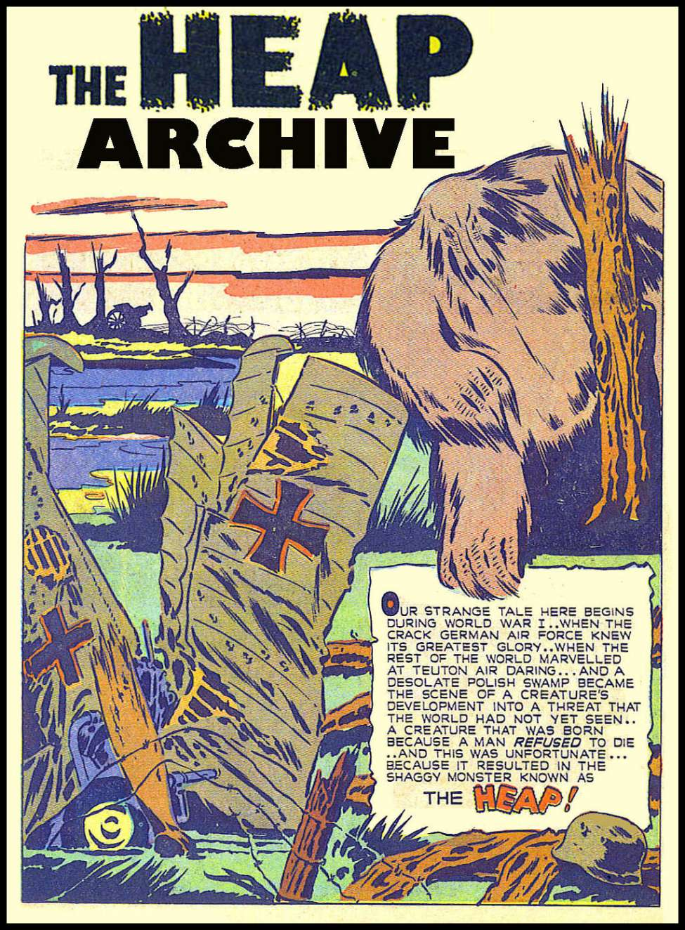 Comic Book Cover For The Heap Golden Age Archive - Part 1