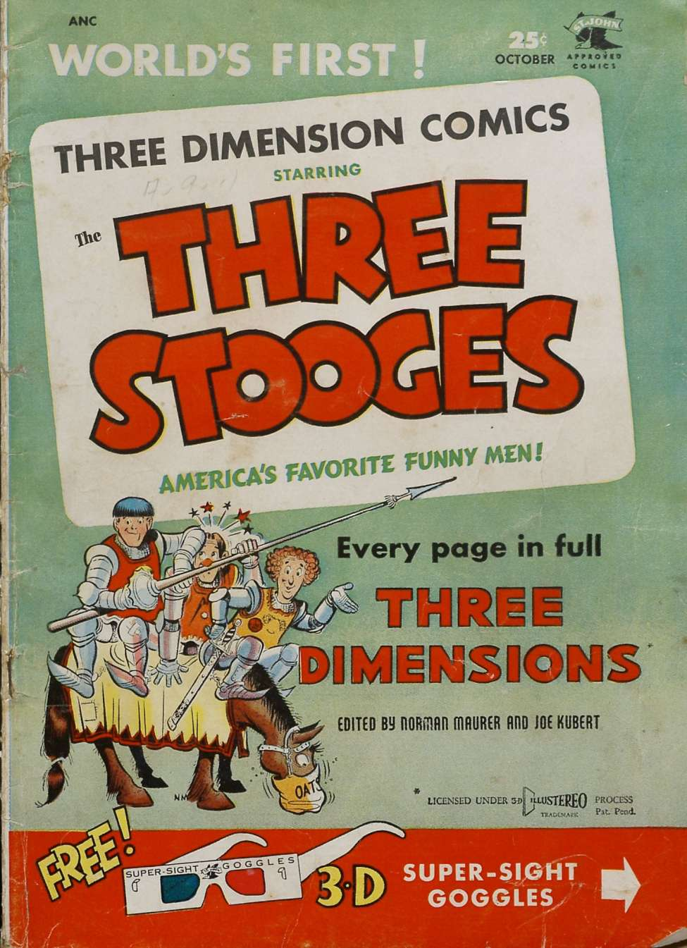 Comic Book Cover For Three Stooges #2