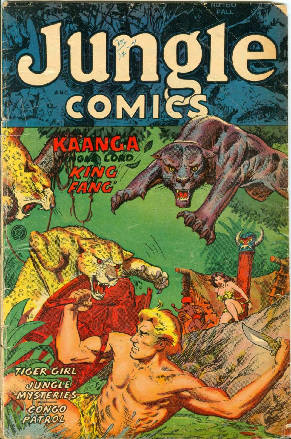 Comic Book Cover For Jungle Comics #160
