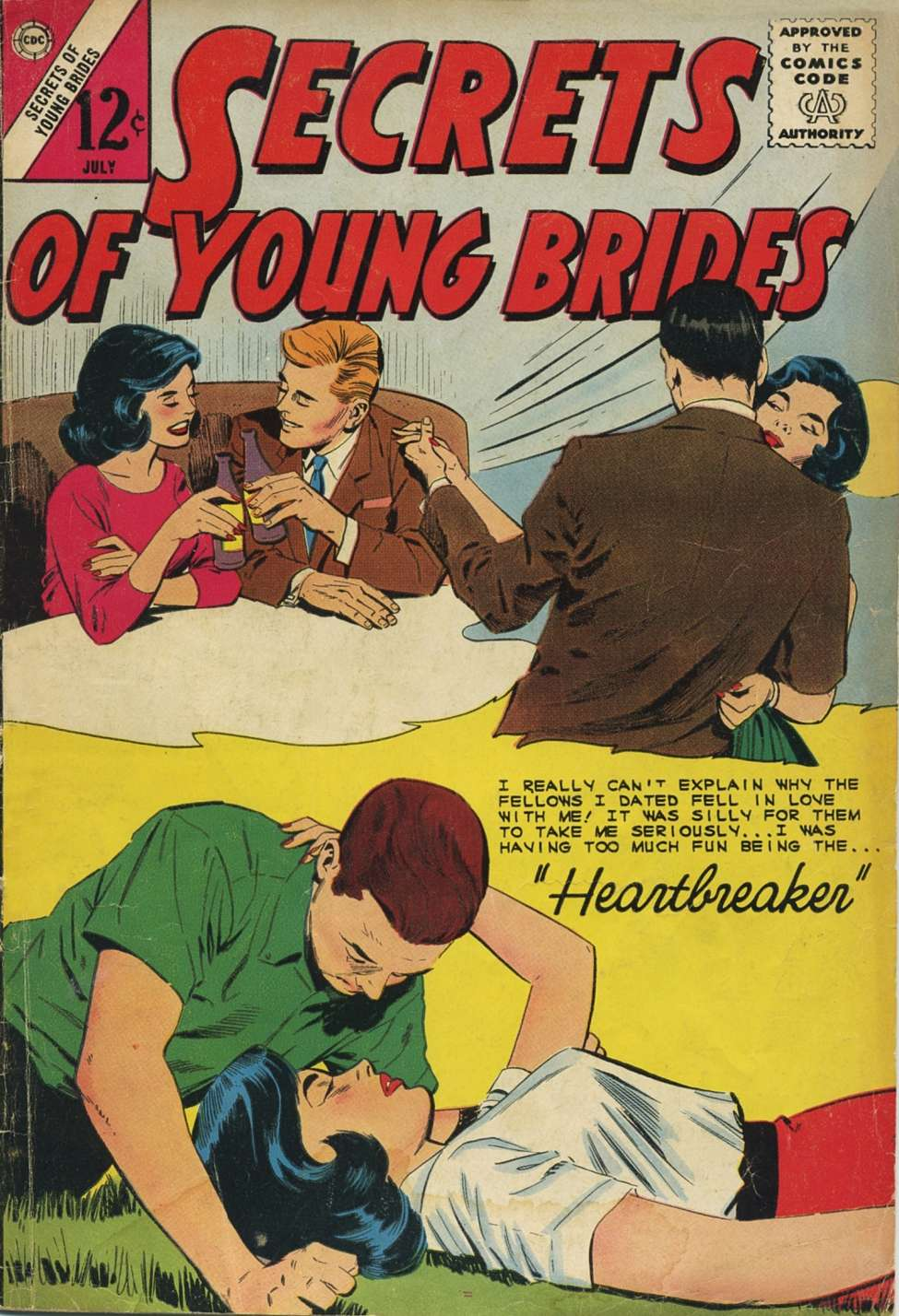 Comic Book Cover For Secrets of Young Brides #43