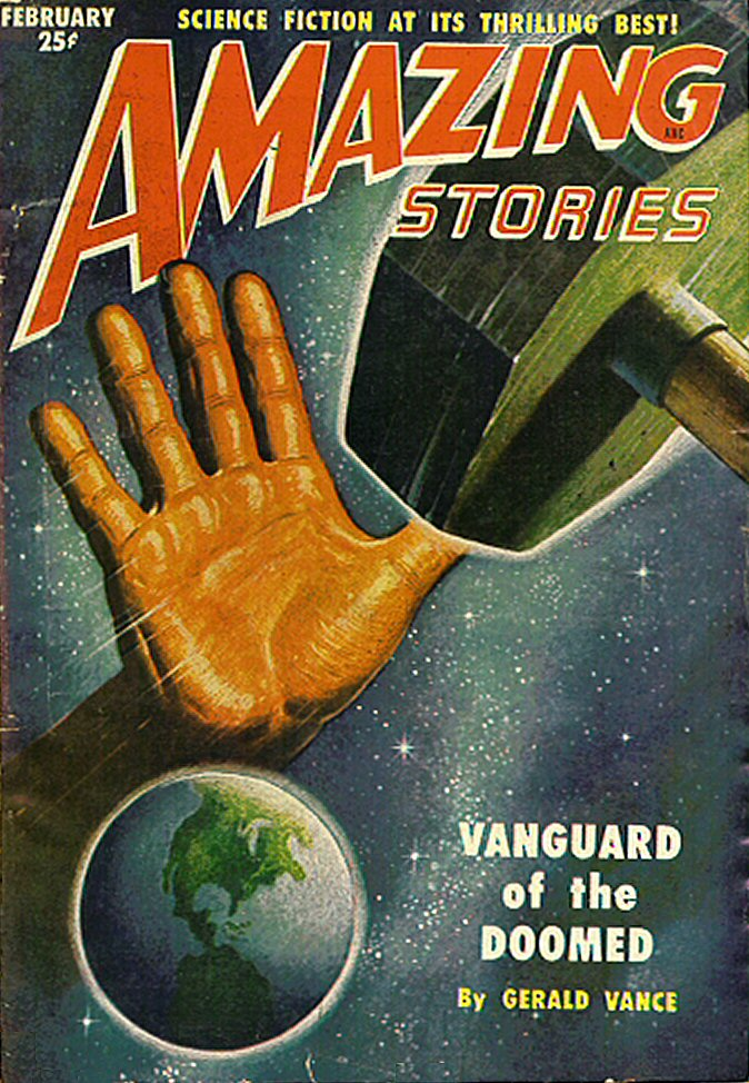 Comic Book Cover For Amazing Stories v25 02 - Vanguard of the Doomed - Gerald Vance