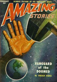 Large Thumbnail For Amazing Stories v25 02 - Vanguard of the Doomed - Gerald Vance
