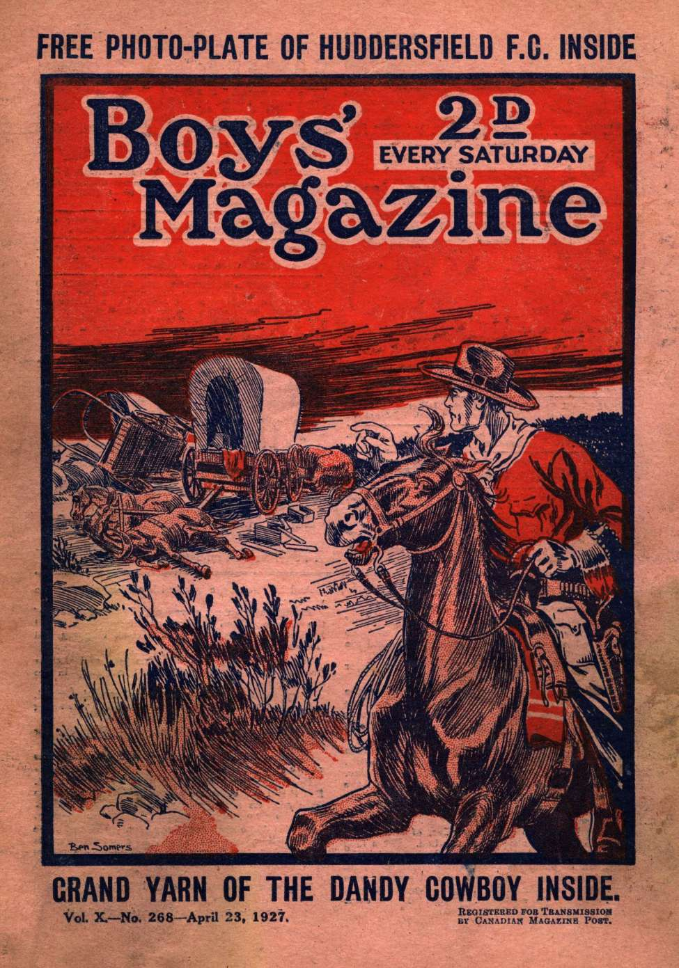 Comic Book Cover For Boys' Magazine 268