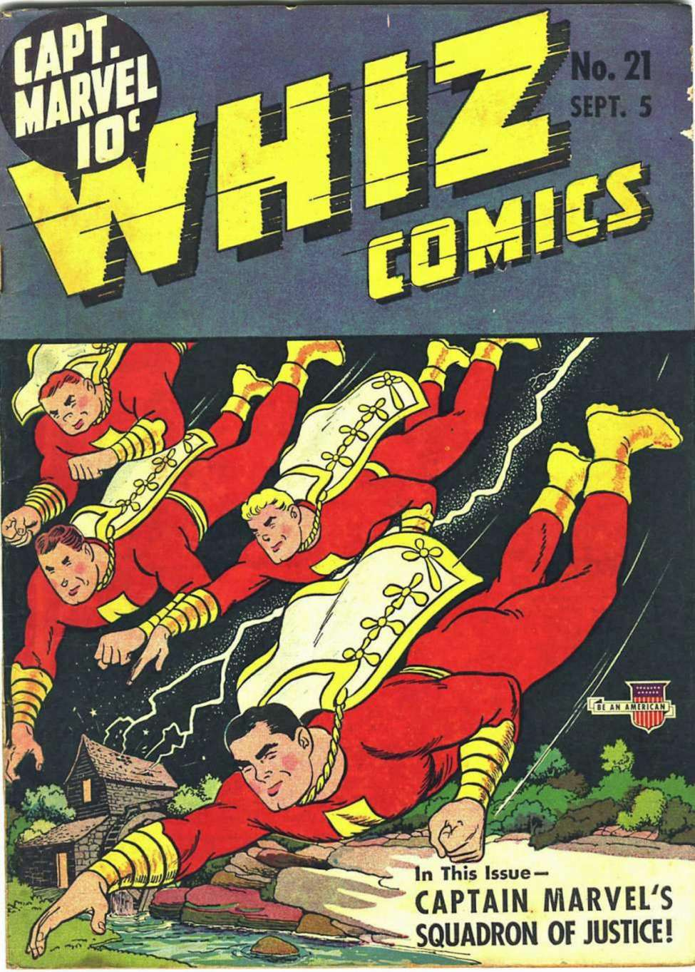 Comic Book Cover For Capt. Marvel Whiz Archives Vol 05