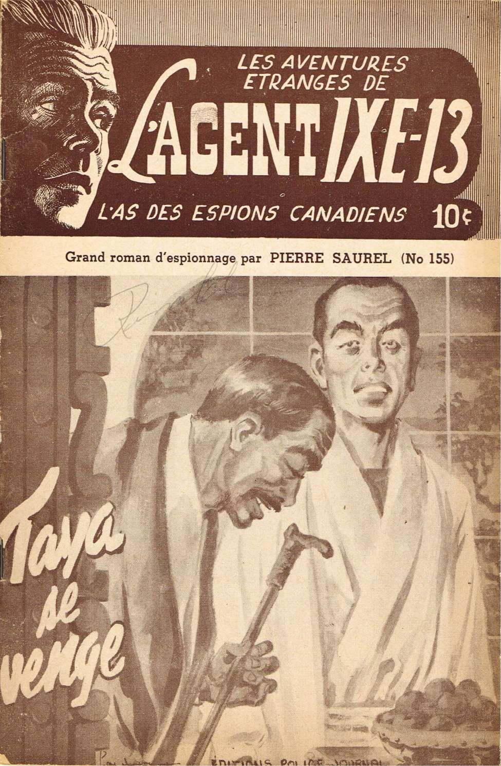 Comic Book Cover For L'Agent IXE-13 v2 155 - Taya se venge